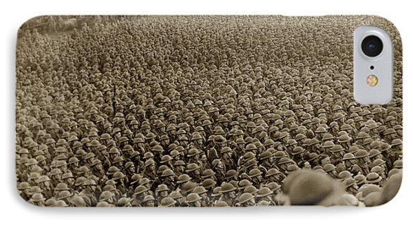 A Sea Of Helmets World War One 1918 Phone Case by California Views Mr Pat Hathaway Archives