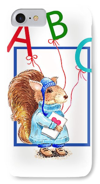 A Squirrel Who Really Loves To Read IPhone Case by Irina Sztukowski