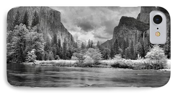 A Storm Draws Near - Black And White Phone Case by Lynn Bauer