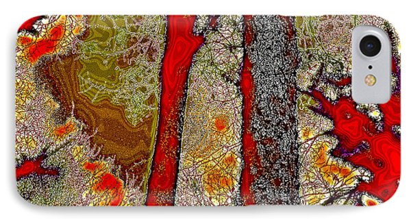 A Touch Of Autumn Abstract V IPhone Case by David Patterson
