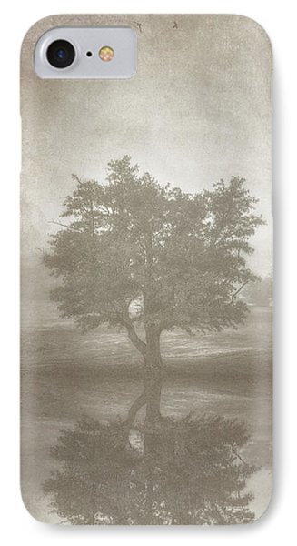 A Tree In The Fog 3 IPhone Case by Scott Norris