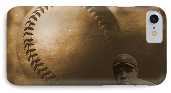 A Tribute To Babe Ruth And Baseball IPhone Case by Dan Sproul