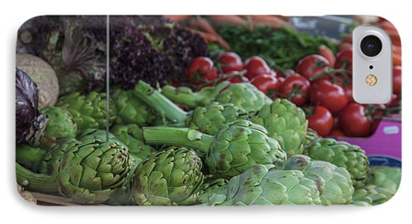 A Vegetable Stand In The Outdoor Market IPhone Case by Mallorie Ostrowitz
