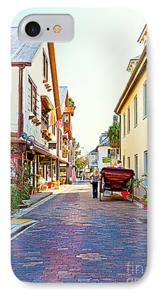 A Walk In St Augustine IPhone Case by Michelle Wiarda