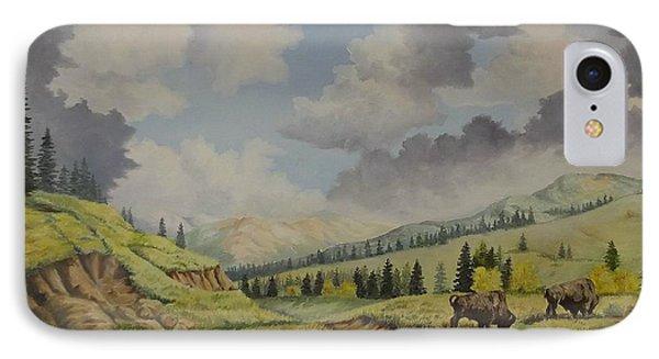 A Warm Day At Yellowstone Nat. Park Phone Case by Wanda Dansereau
