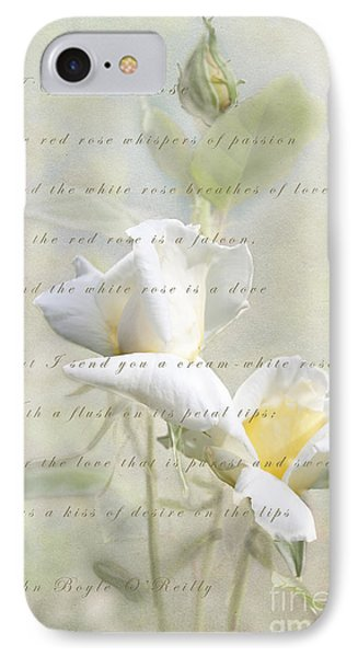 A White Rose IPhone Case by Linda Lees