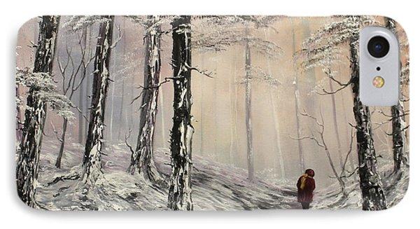 A Winter Walk IPhone Case by Jean Walker