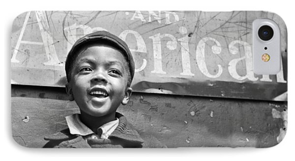 A Young Harlem Newsboy IPhone 7 Case by Underwood Archives