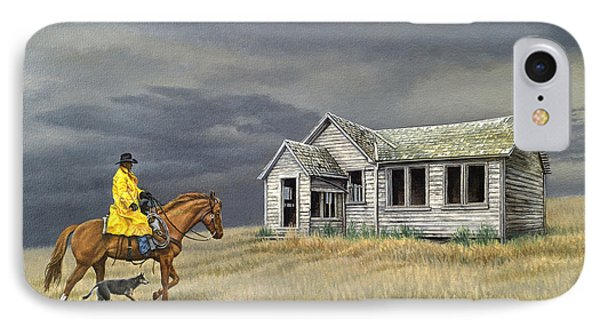 Abandoned Homestead-eastern Idaho IPhone Case by Paul Krapf