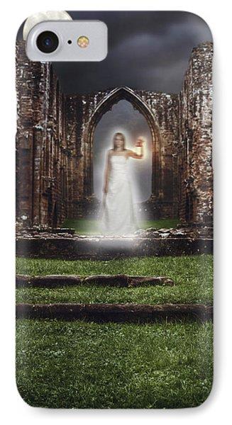 Abbey Ghost IPhone Case by Amanda Elwell
