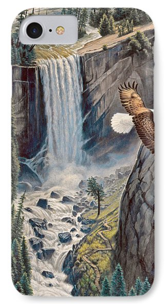 Above The Falls - Vernal Falls IPhone Case by Paul Krapf