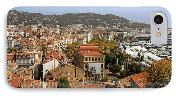 Above The Roofs Of Cannes Phone Case by Christine Till