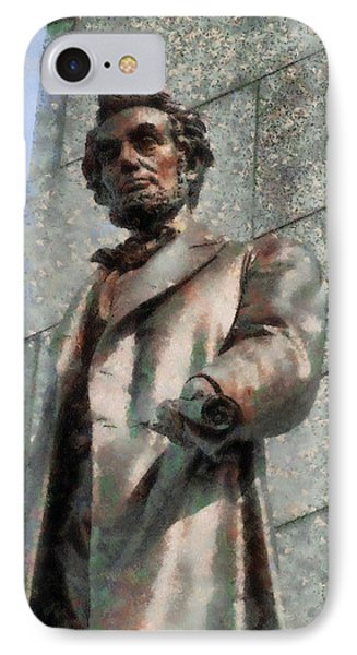 Abraham Lincoln IPhone Case by Dan Sproul