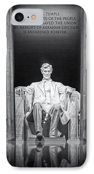 Abraham Lincoln Memorial Phone Case by Susan Candelario