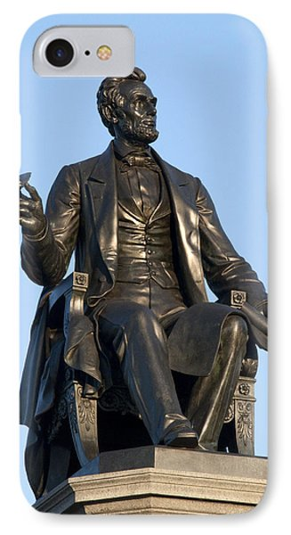 Abraham Lincoln Statue Philadelphia IPhone Case by Bill Cannon