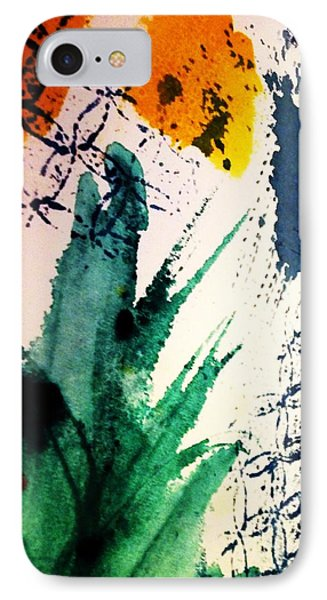 Abstract - Splashes Of Color Phone Case by Ellen Levinson