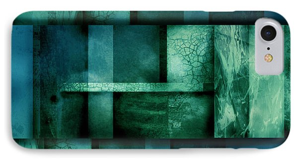 abstract art Blue Dream Phone Case by Ann Powell