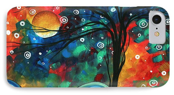 Abstract Art Original Landscape Colorful Painting First Snow Fall By Madart Phone Case by Megan Duncanson