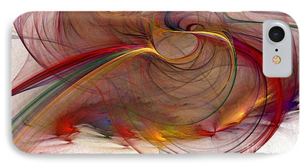 Abstract Art Print Inflammable Matter IPhone Case by Karin Kuhlmann