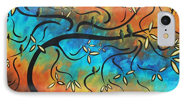 Abstract Bird Painting Original Art Madart Tree House Phone Case by Megan Duncanson