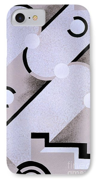 Abstract Design From Nouvelles Compositions Decoratives IPhone Case by Serge Gladky