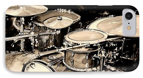 Abstract Drum Set IPhone 7 Case by J Vincent Scarpace