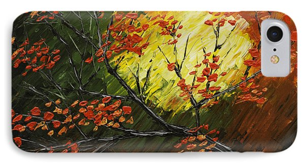 Abstract Fall Tree Painting IPhone Case by Keith Webber Jr
