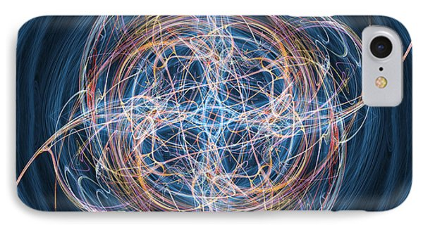 Abstract Fractal Background 08 Phone Case by Antony McAulay