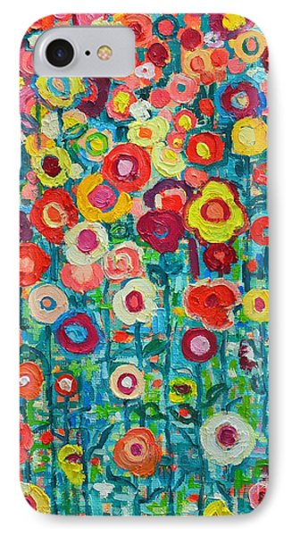 Abstract Garden Of Happiness IPhone Case by Ana Maria Edulescu