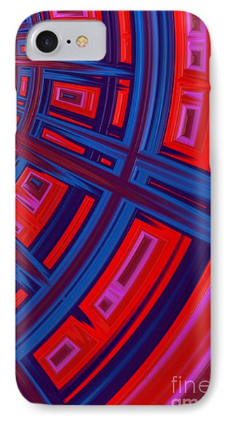 Abstract In Red And Blue Phone Case by John Edwards