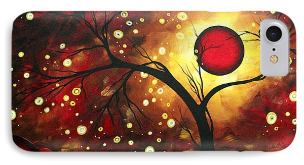 Abstract Landscape Glowing Orb By Madart Phone Case by Megan Duncanson