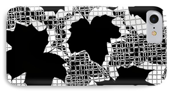 Abstract Leaf Pattern - Black White Grey Phone Case by Natalie Kinnear