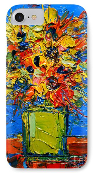 Abstract Miniature Bouquet IPhone Case by Mona Edulesco