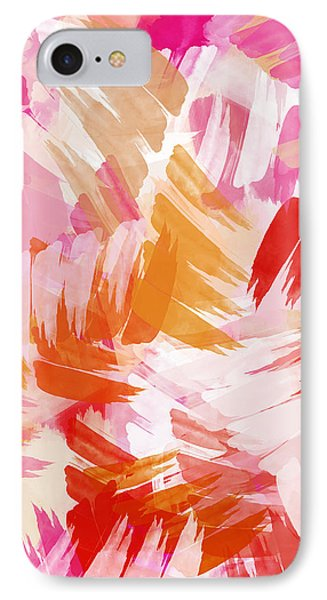 Abstract Paint Pattern IPhone 7 Case by Christina Rollo