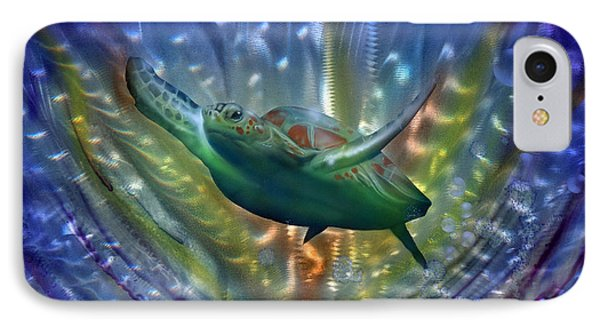 Abstract Sea Turtle 2 Phone Case by Luis  Navarro