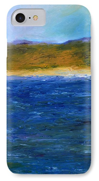 Abstract Shoreline IPhone Case by Michelle Calkins