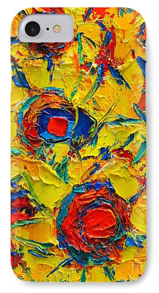 Abstract Sunflowers Phone Case by Ana Maria Edulescu