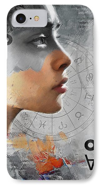 Abstract Tarot Art 019b IPhone Case by Corporate Art Task Force