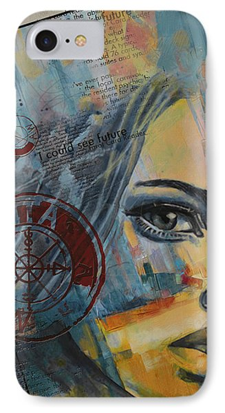 Abstract Tarot Art 022a IPhone Case by Corporate Art Task Force