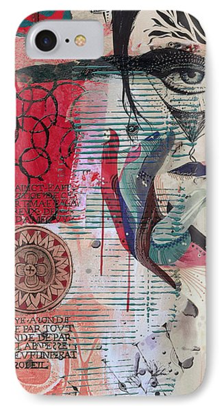 Abstract Tarot Card 008 IPhone Case by Corporate Art Task Force