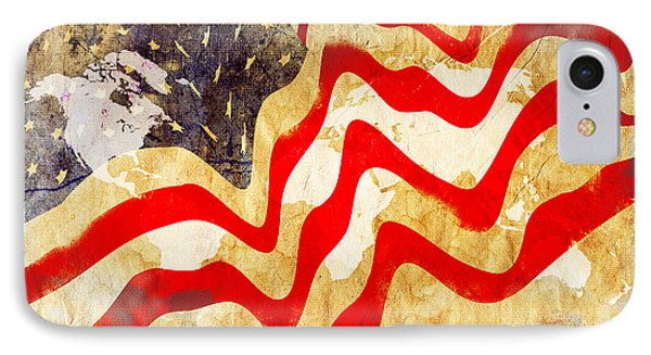 Abstract Usa Flag IPhone Case by Stefano Senise