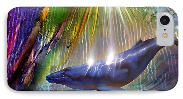 Abstract Whale Phone Case by Luis  Navarro