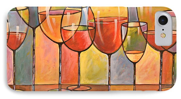 Abstract Wine Art ... Whites And Reds IPhone Case by Amy Giacomelli