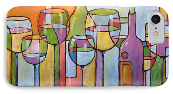 Abstract Wine Dining Room Bar Kitchen Art ... Time To Relax IPhone Case by Amy Giacomelli