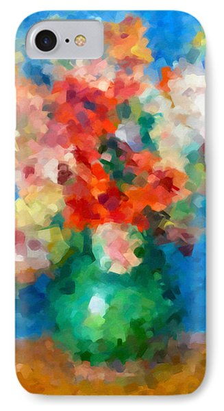 Abstracting Renoir IPhone Case by Georgiana Romanovna
