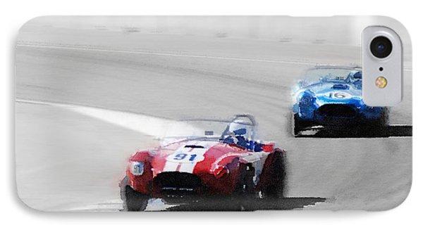 Ac Cobra Racing Monterey Watercolor IPhone Case by Naxart Studio