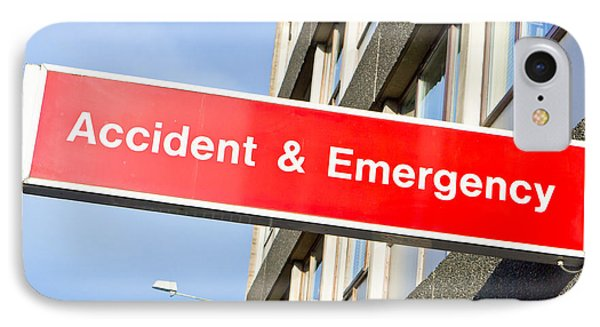 Accident And Emergency IPhone Case by Tom Gowanlock