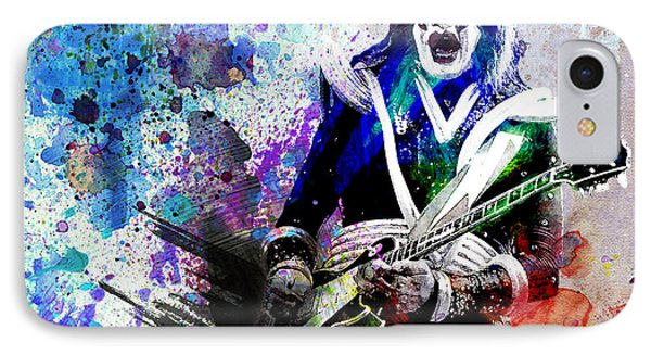 Ace Frehley - Kiss Original Painting Print IPhone Case by Ryan Rock Artist