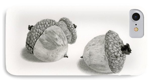 Acorns- Black And White IPhone Case by Sarah Batalka