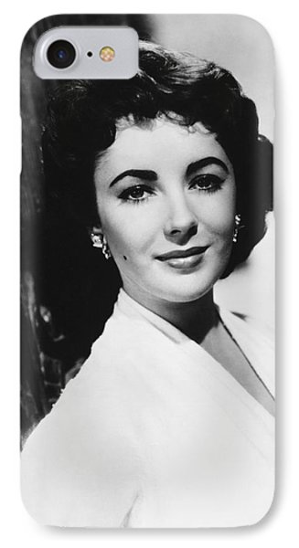 Actress Elizabeth Taylor IPhone Case by Underwood Archives